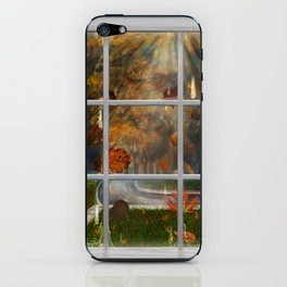 One Rainy Day In The Fall - Painting iPhone Skin