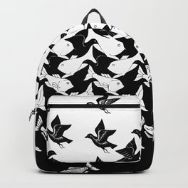 fish and birds tessellation art deco Backpack