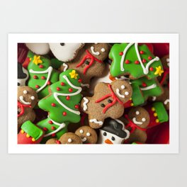 Delicious Christmas Cookies Art Print