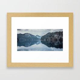Alpsee lake,Bavarian alps Framed Art Print
