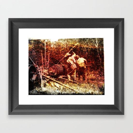 Making Lumber for the Barn - Heritage Series Framed Art Print