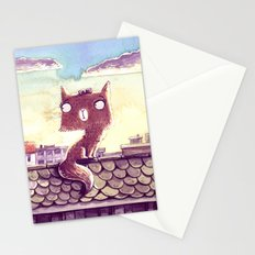 Cats on the roof Stationery Cards