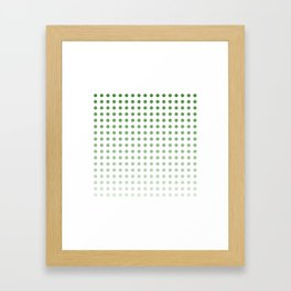 Polka Dots/Green Framed Art Print