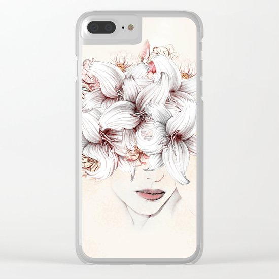 Flowers Women 23 Clear iPhone Case