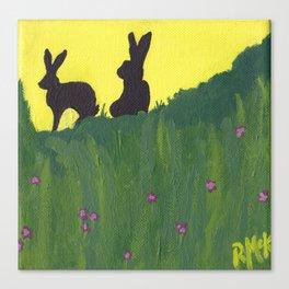 Young Peter Rabbit - Panel 3 Canvas Print