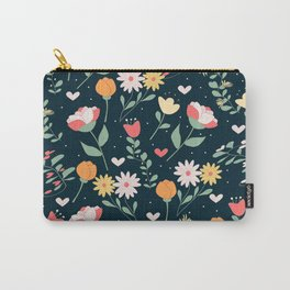 floral 4 Carry-All Pouch
