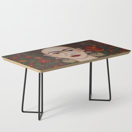 Frida with butterflies Coffee Table