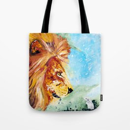 The Lion and the Rat - Animal - by LiliFlore Tote Bag