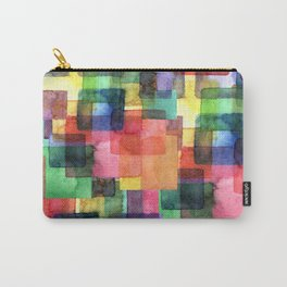 Watercolor blots plaid :) Carry-All Pouch