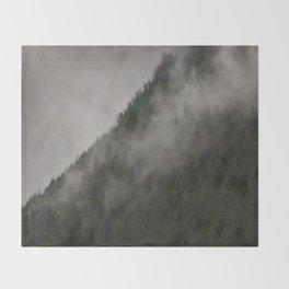 Revelstoke Forest Mists Photo Art Throw Blanket