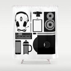 Studio Objects Vector Illustration Shower Curtain