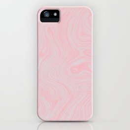 Modern abstract pink gray watercolor brushstrokes pattern iPhone Case