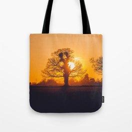Yellow Sunset Tote Bag