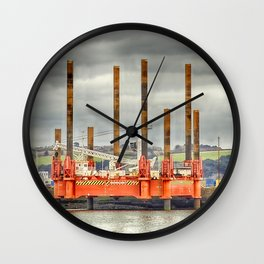 Wavewalker In Falmouth, Cornwall Wall Clock