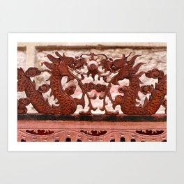 Two Chinese Dragon Art Print
