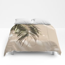 tropical palm leaves vi Comforters