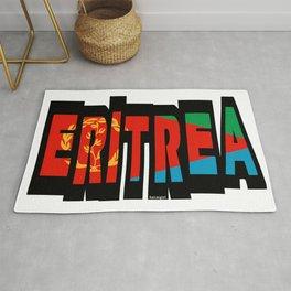 Eritrea Font with Eritrean Flag Rug