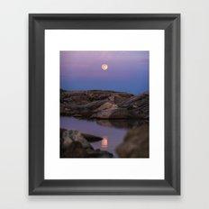 Full Moonrise Framed Art Print