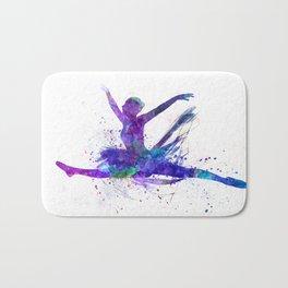 Woman ballerina ballet dancer dancing Bath Mat