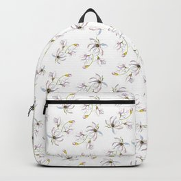 Pretty Purple Floral Backpack