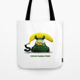 ORGANIC INVENTIONS SERIES: Vintage Banana Phone Tote Bag