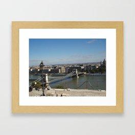 Not-so-blue Danube Framed Art Print