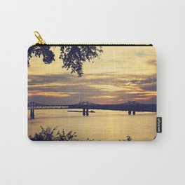 Golden Mississippi River Sunset Carry-All Pouch