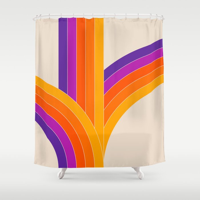 Bounce - Rainbow Shower Curtain by circa78designs | Society6