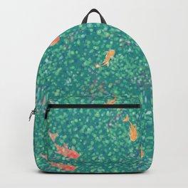 Koi Pond in Dappled Light Backpack