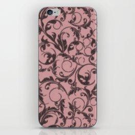 Vintage Swirls Bridal Rose iPhone Skin