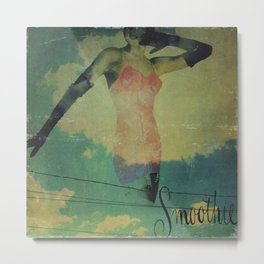 Smoothie Girdle Pin Up Girl Metal Print