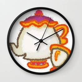 Mrs Potts Wall Clock