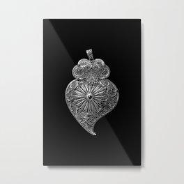 Heart of Viana-Portuguese filigree-Jewellery Metal Print
