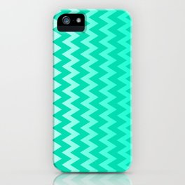 Teal Chevron iPhone Case