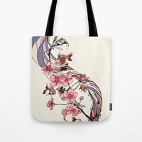 blossom Tote Bags featuring Blossom by Huebucket