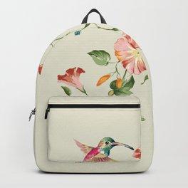 hummingbirds & morning glories Backpack