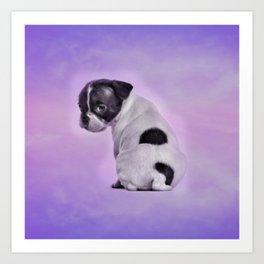 Boston Terrier Puppy Art Print