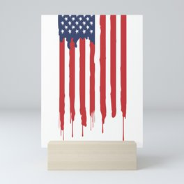 Bleeding American Flag of a US Patriot Mini Art Print
