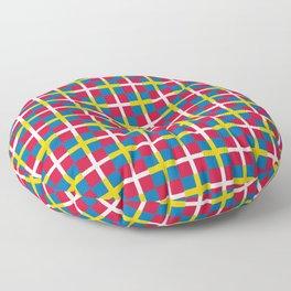 Mix of flag: sweden and denmark Floor Pillow