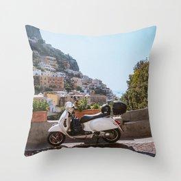 The Italian Transport Throw Pillow