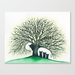 Illinois Whimsical Cats Canvas Print