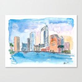 Austin Texas Skyline During Sunset Canvas Print