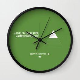 Perfect Logo Series (7 of 11) - Green Wall Clock