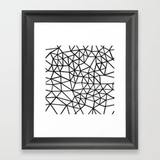Segment Dense Black on White Framed Art Print