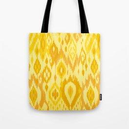 MODERN IKAT TRIBAL PATTERN | yellow Tote Bag