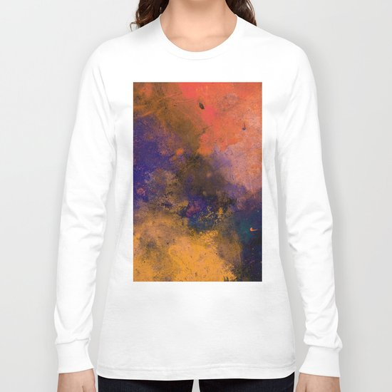 Inner Peace - Orange, red, blue, pastel, textured painting Long Sleeve T-shirt