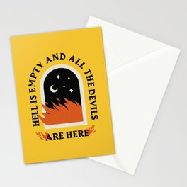 Hell Is Empty Stationery Cards