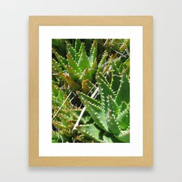 Green and Pointy Framed Art Print