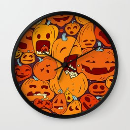 Halloween pumpkin pattern Wall Clock