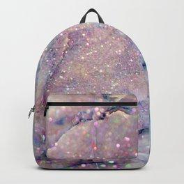 Glitter-Pink and Soft Aqua Marbled Pattern Backpack